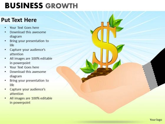 Business Finance Strategy Development Business Growth Sales Diagram