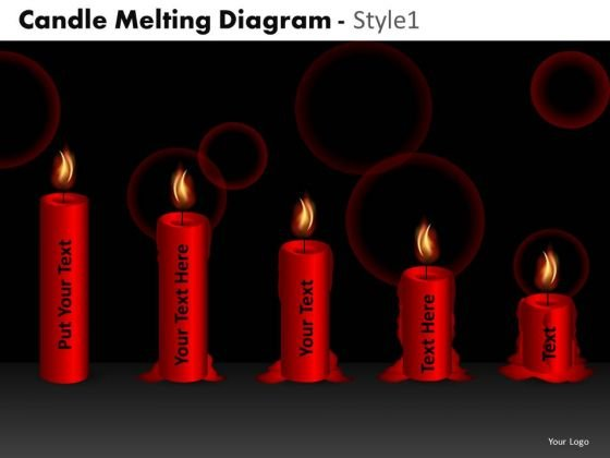 Business Finance Strategy Development Candle Melting Diagram Style 1 Sales Diagram