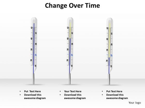 Business Finance Strategy Development Change Over Time Thermometer Concept Sales Diagram