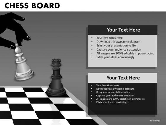 Business Finance Strategy Development Chess Board Sales Diagram