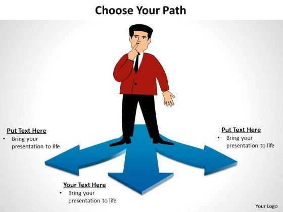 Business Finance Strategy Development Choose Your Path Strategy Diagram