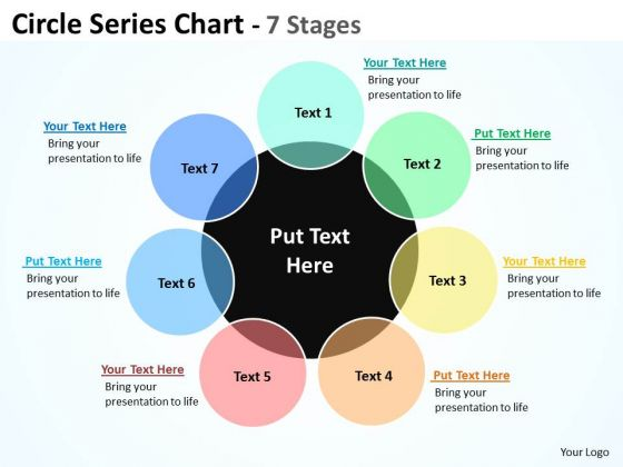 Business Finance Strategy Development Circle Series Chart 7 Stages Strategy Diagram