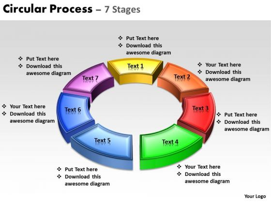 Business Finance Strategy Development Circular Process 7 Stages Sales Diagram