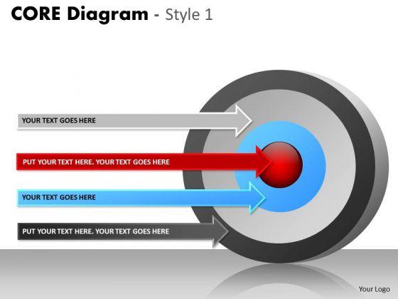 Business Finance Strategy Development Core Diagram Consulting Diagram