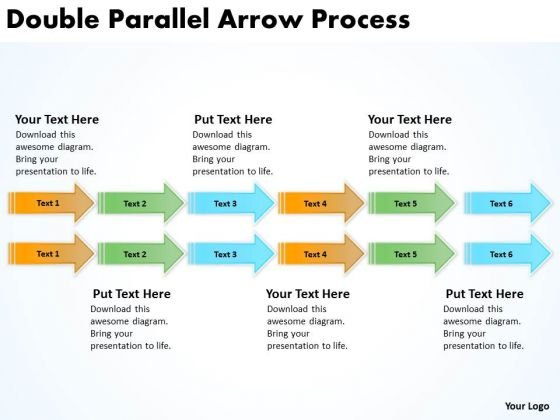 Business Finance Strategy Development Double Parallel Arrow Process Business Framework Model