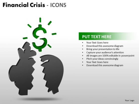Business Finance Strategy Development Financial Crisis Icons Business Cycle Diagram