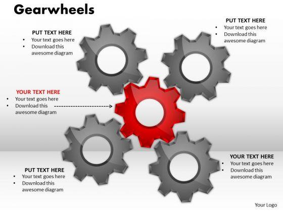 Business Finance Strategy Development Gearwheels Marketing Diagram