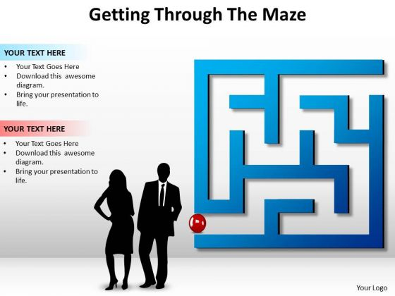 Business Finance Strategy Development Getting Through The Maze Business Diagram