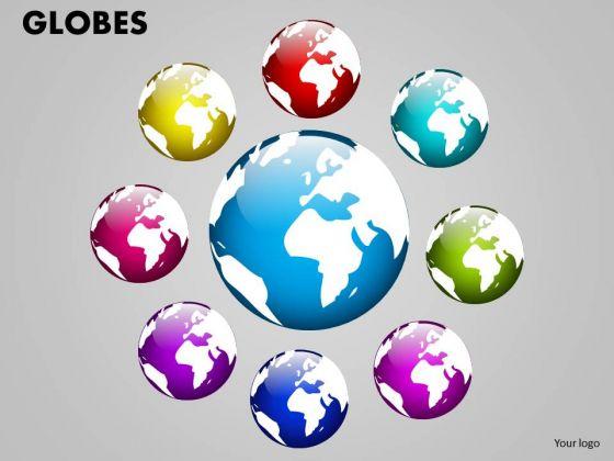 Business Finance Strategy Development Globes Business Diagram