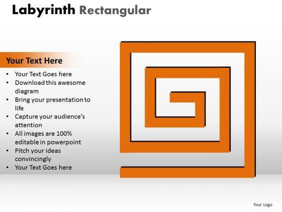 Business Finance Strategy Development Labyrinth Rectangular Business Diagram