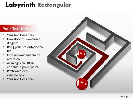 Business Finance Strategy Development Labyrinth Rectangular Marketing Diagram