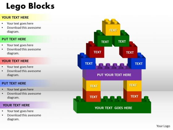 Business Finance Strategy Development Lego Block Sales Diagram
