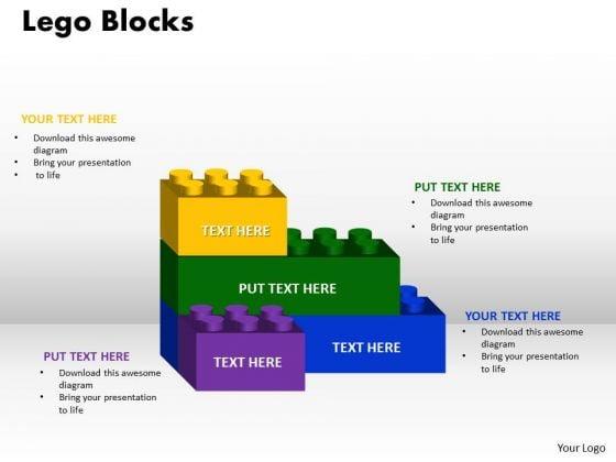 Business Finance Strategy Development Lego Blocks 4 Strategy Diagram