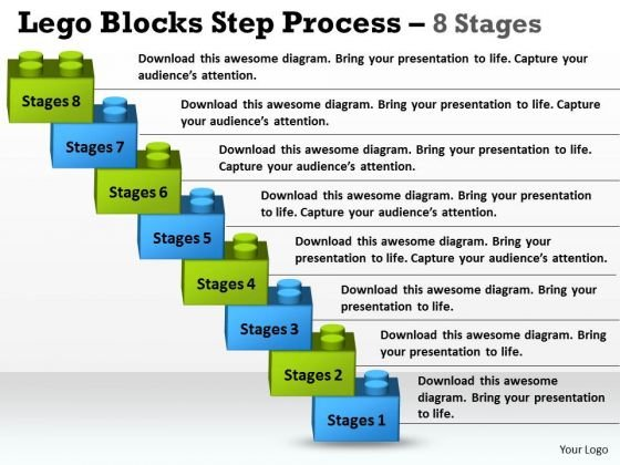 Business Finance Strategy Development Lego Blocks Step Process 8 Stages Strategy Diagram