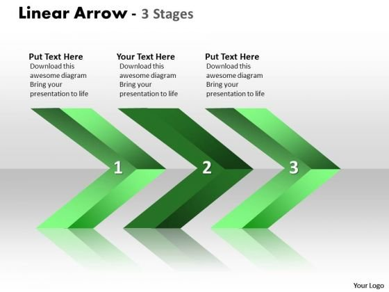 Business Finance Strategy Development Linear Arrows 3 Stages Marketing Diagram