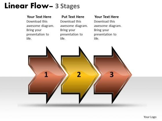 Business Finance Strategy Development Linear Flow Arrow 3 Stages Marketing Diagram