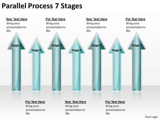 Business Finance Strategy Development Parallel Process 7 Stages Business Diagram