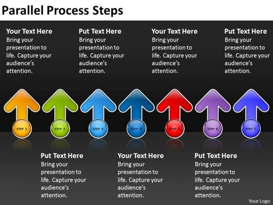 Business Finance Strategy Development Parallel Process Steps Business Cycle Diagram