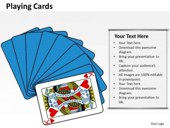 Business Finance Strategy Development Playing Cards Strategy Diagram