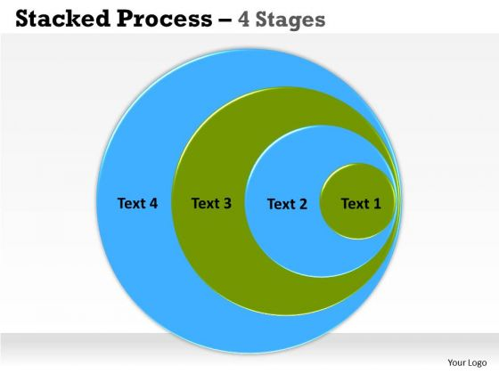 Business Finance Strategy Development Stacked Process 4 Stages Sales Diagram