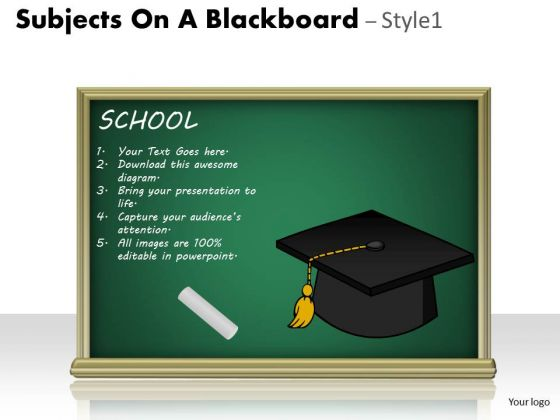 Business Finance Strategy Development Subjects On A Blackboard Consulting Diagram
