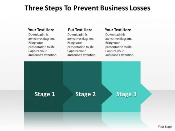 Business Finance Strategy Development Three Steps To Prevent Business Losses Marketing Diagram