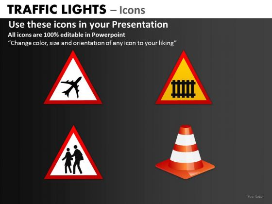 Business Finance Strategy Development Traffic Lights Icons Marketing Diagram