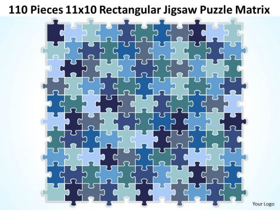 Business Framework Model 110 Pieces 11x10 Rectangular Jigsaw Puzzle Matrix Strategy Diagram