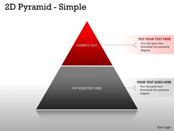 Business Framework Model 2 Staged Pyramid For Business Process Sales Diagram
