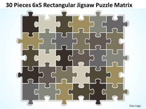 Business Framework Model 30 Pieces 6x5 Rectangular Jigsaw Puzzle Matrix Strategy Diagram