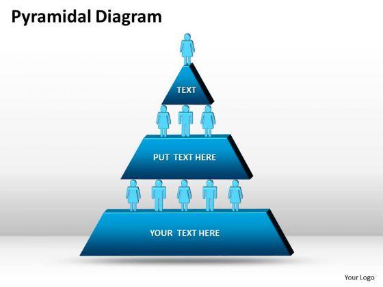 Business Framework Model 3 Staged Pyramidical Design Marketing Diagram