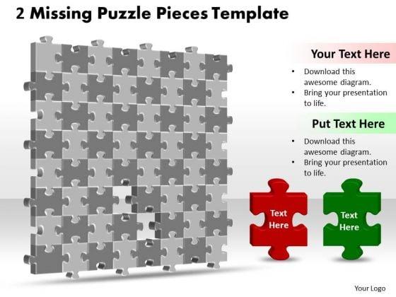 Business Framework Model 3d 8x8 Missing Puzzle Piece Sales Diagram