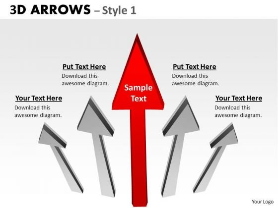 Business Framework Model 3d Arrows Style 1 Marketing Diagram