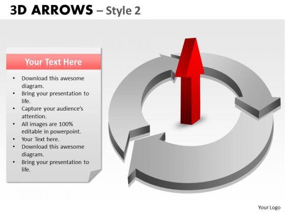 Business Framework Model 3d Arrows Style 2 Marketing Diagram