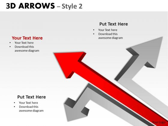 Business Framework Model 3d Arrows Styli Consulting Diagram