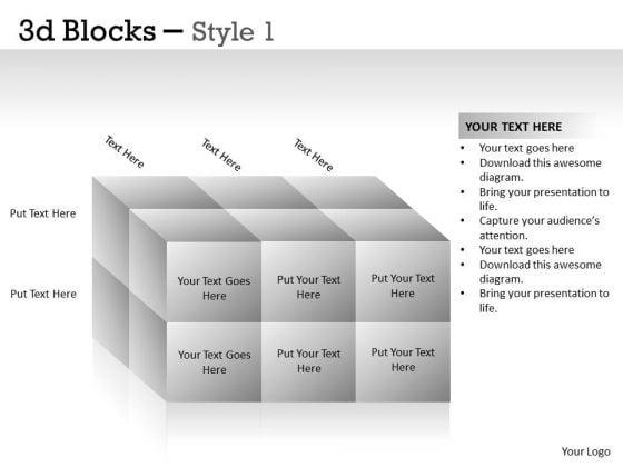 Business Framework Model 3d Blocks Style Business Framework Model