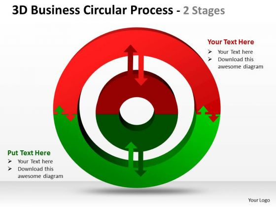Business Framework Model 3d Business Circular Diagram Process 2 Stages Sales Diagram