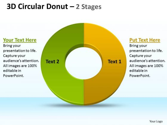 Business Framework Model 3d Circular Donut Strategic Management