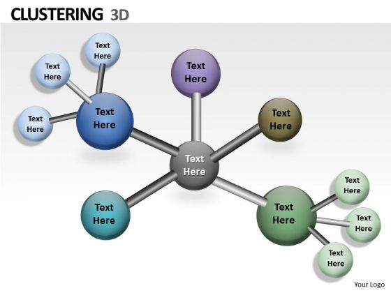 Business Framework Model 3d Clustering Chart Marketing Diagram