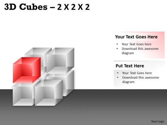 Business Framework Model 3d Cubes 2x2x2 Business Finance Strategy Development