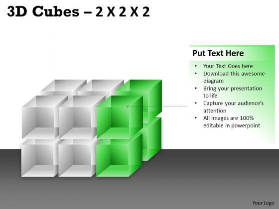 Business Framework Model 3d Cubes 2x2x3 Business Diagram
