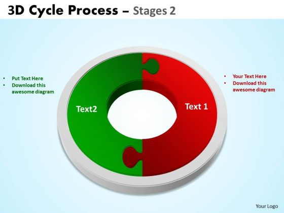 Business Framework Model 3d Cycle Process Flowchart Stages 2 Style Sales Diagram