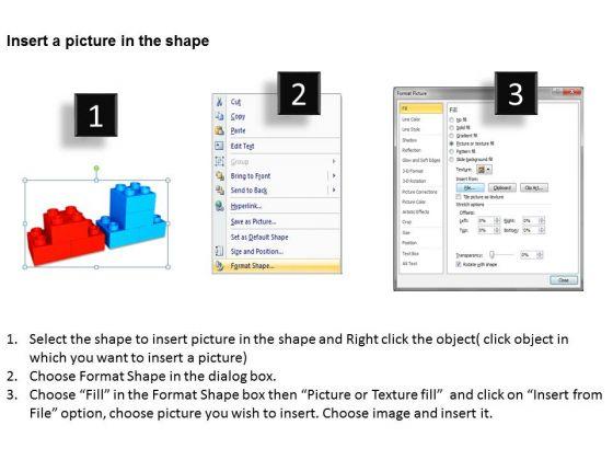 business_framework_model_3d_lego_blocks_step_process_2_stages_marketing_diagram_3