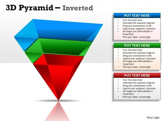 Business Framework Model 3d Pyramid Inverted Design Marketing Diagram