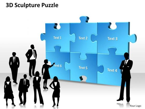 Business Framework Model 3d Sculpture Puzzle Business Diagram