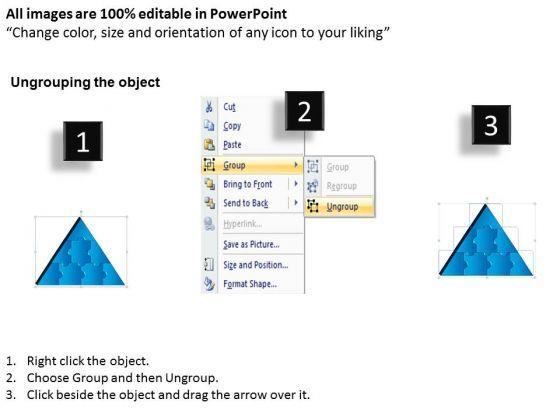 business_framework_model_3d_triangle_puzzle_process_8_pieces_sales_diagram_2