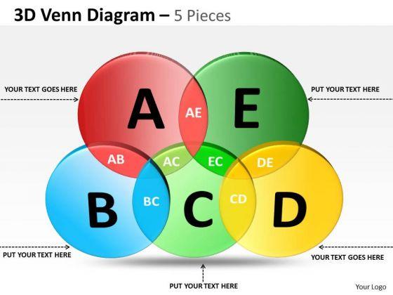 Business Framework Model 3d Venn Diagram Sales Diagram