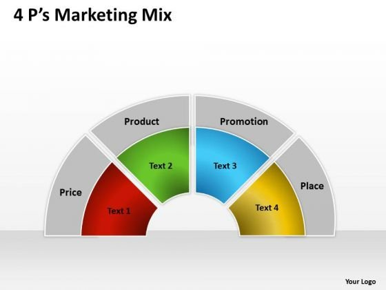 Business Framework Model 4 Ps Marketing Mix Consulting Diagram