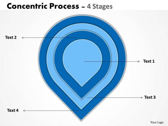 Business Framework Model 4 Staged Concentric Process Business Diagram
