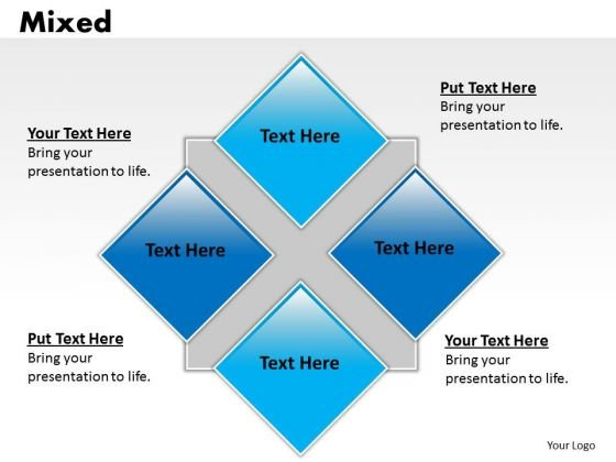 Business Framework Model 4 Staged Mixed Diagram Consulting Diagram